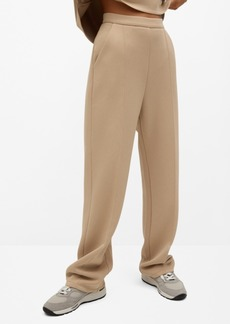 Mango Women's Pleat Straight Trousers