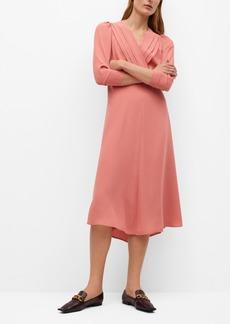 Mango Women's Pleated Detail Dress