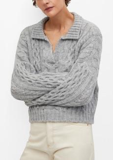 Mango Women's Polo Style Sweater