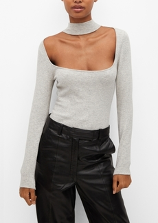 Mango Women's Squared Neckline Bodysuit