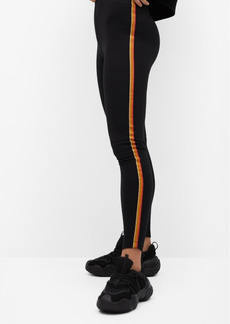 Mango Women's Striped Print Leggings