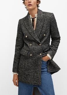 Mango Women's Textured Wrap Coat