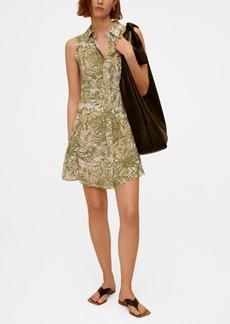 Mango Women's Tropical Print Dress