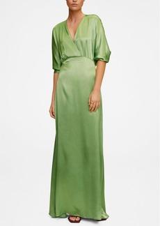 Mango Women's Wrapped Satin Dress