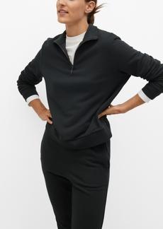 Mango Women's Zipper Cotton Sweatshirt