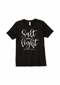Mango Womens Salt and Light - Matthew 5:13-16 Premium T-Shirt