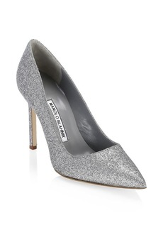 Manolo Blahnik BB 105 Glitter Pumps