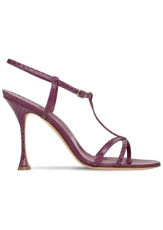 Manolo Blahnik 105mm Raqui Snakeskin Sandals