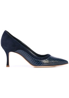 Manolo Blahnik 70MM snakeskin-effect pumps