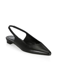 Manolo Blahnik Allure Leather Flat Slingbacks