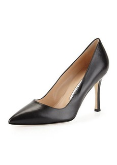 Manolo Blahnik BB014 90 KID LEATHER PUMP