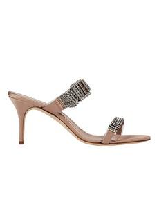 Manolo Blahnik Beopia Crystal-Embellished Strap Sandals