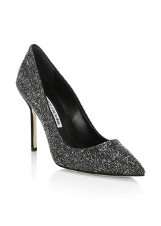 Manolo Blahnik Brock Sparkle Stilettos