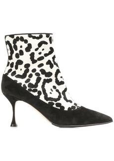 Manolo Blahnik cheetah printed boots