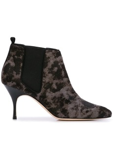 Manolo Blahnik contrast ankle boots