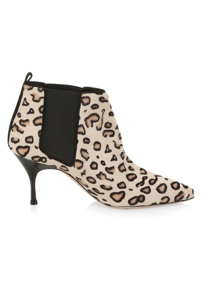 Manolo Blahnik Dildi Leopard-Print Calf Hair Booties