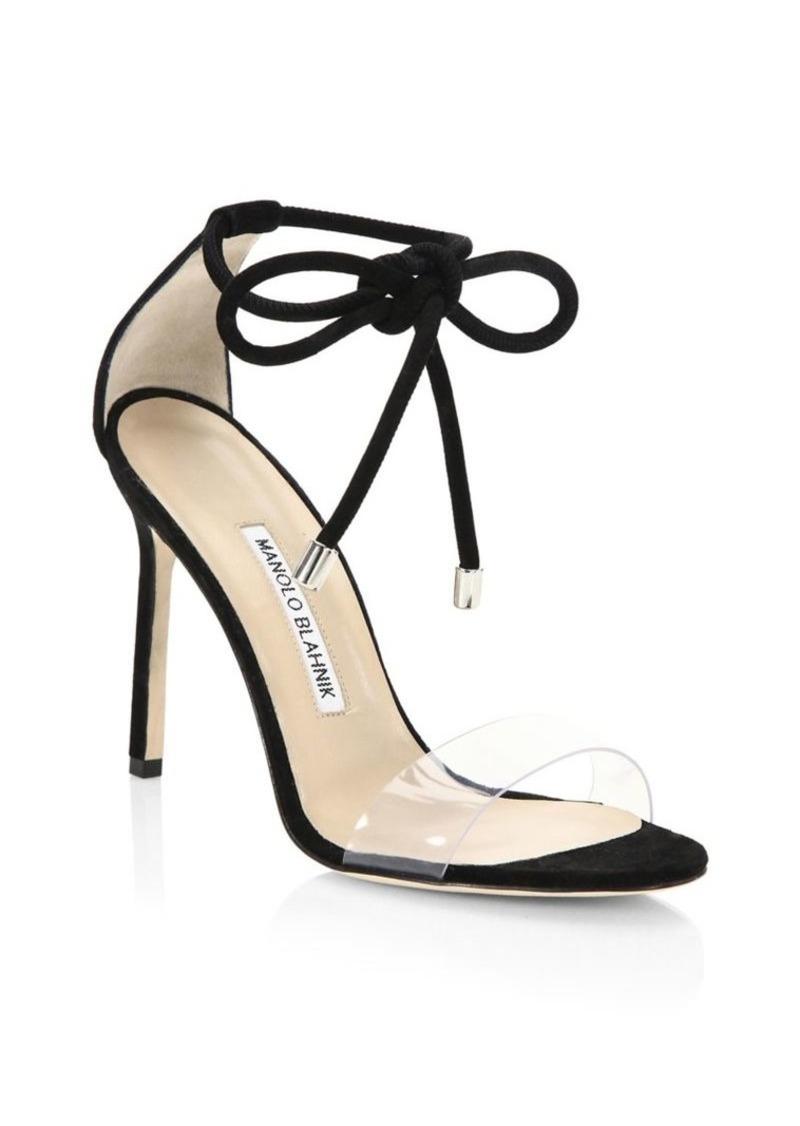 Manolo Blahnik Estro Ankle Tie Stilettos
