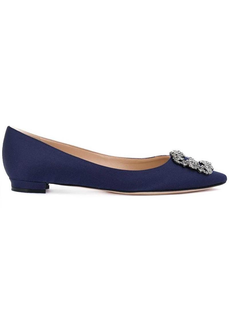 Manolo Blahnik Hangisi embellished ballerina shoes