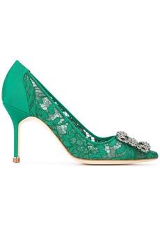 Manolo Blahnik Hangisi lace pumps