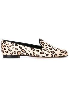Manolo Blahnik leopard print loafers
