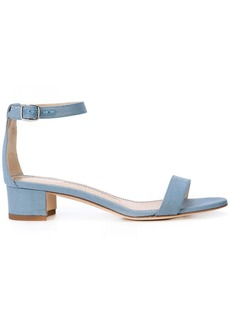 3e888176f8 Manolo Blahnik Leva Metallic Strappy Ankle-Wrap Sandals   Shoes
