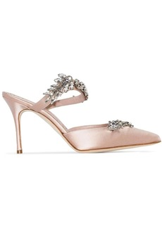 Manolo Blahnik Lurum 90mm crystal-embellished mules