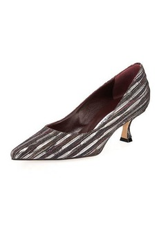 Manolo Blahnik 50MM Srila Fabric Pump