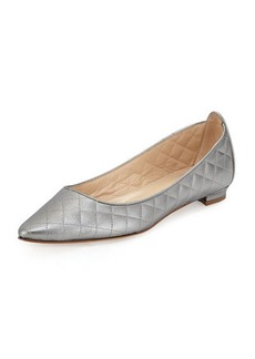 Manolo Blahnik Abat Quilted Pointed-Toe Flat