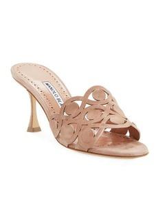 Manolo Blahnik Ago 70mm Suede Sandals