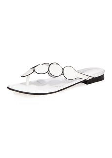 Manolo Blahnik Ariflat Leather Thong Sandal