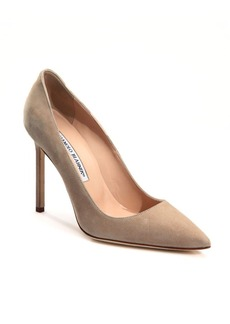 Manolo Blahnik BB 105 Suede Point Toe Pumps
