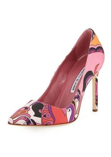 Manolo Blahnik BB 105mm Fabric Pump
