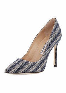 Manolo Blahnik BB 105mm Fabric Pumps