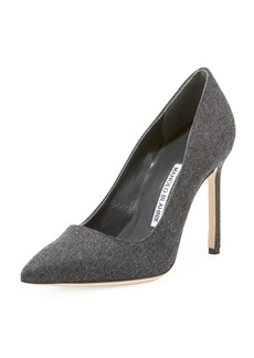 Manolo Blahnik BB 105mm Flannel Pumps