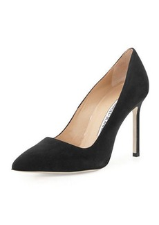 Manolo Blahnik BB 105mm Suede Pump (Pux Heel)
