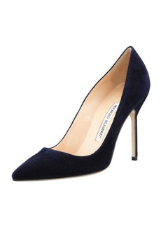 Manolo Blahnik BB 105mm Suede Pump (Tora Heel)