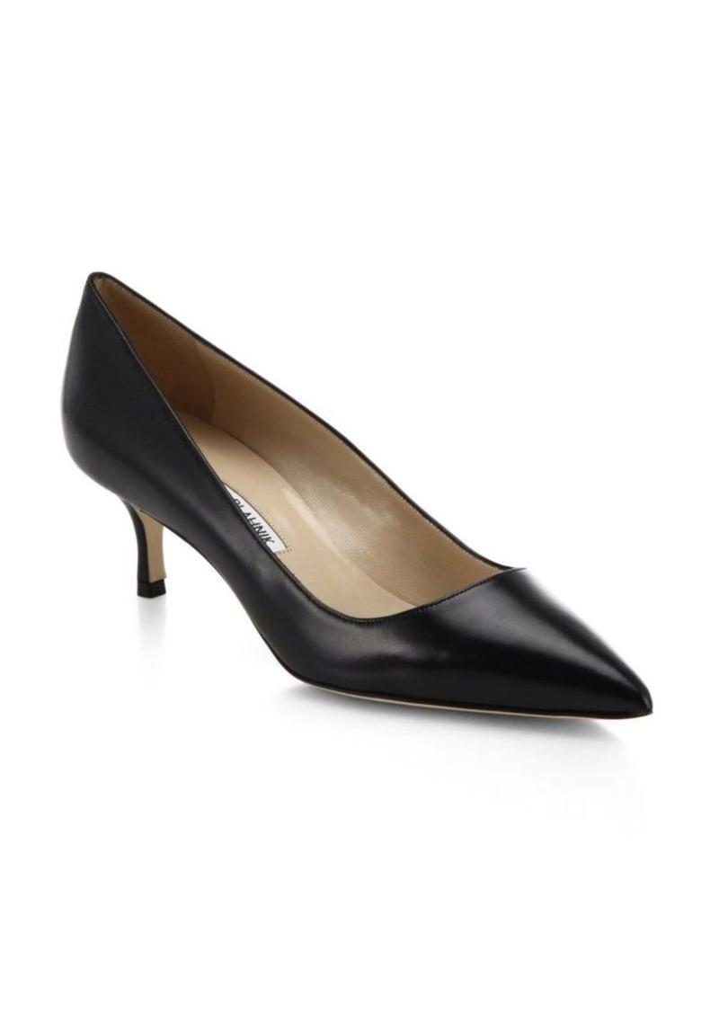 Manolo blahnik manolo blahnik bb 50 leather point toe for Shoes by manolo blahnik