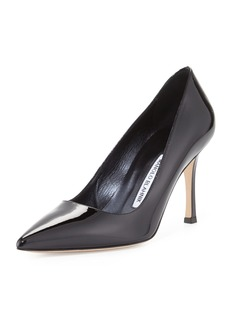 Manolo Blahnik BB 70mm Patent Leather Pump