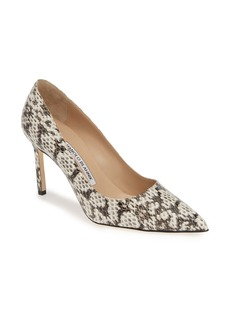 Manolo Blahnik BB Genuine Snakeskin Pointy Toe Pump (Women)