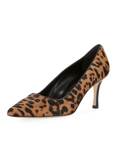 Manolo Blahnik BB Leopard-Print Calf Hair Pump