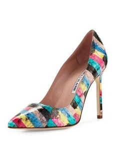 Manolo Blahnik BB Printed Snakeskin 105mm Pump