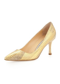 Manolo Blahnik BB Snakeskin 70mm Pump