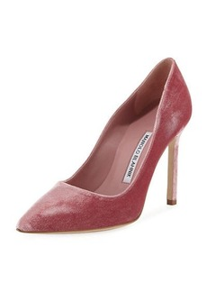 Manolo Blahnik BB Velvet 105mm Point-Toe Pump