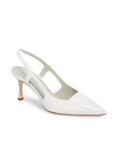 Manolo Blahnik Bretto Slingback Pointy Toe Pump (Women)