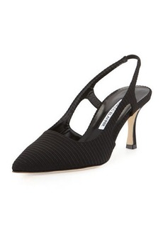 Manolo Blahnik Bretto Textured Fabric Pump