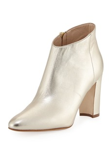 Manolo Blahnik Brusta Metallic Leather Booties