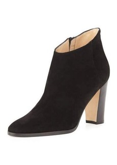Manolo Blahnik Brusta 90mm Suede Side Zip B