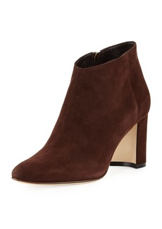 Manolo Blahnik Brusta Suede Block-Heel Boot
