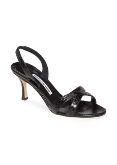 Manolo Blahnik Callasli Crisscross Slingback Sandal (Women)