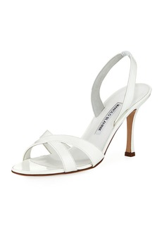Manolo Blahnik Callasli Patent Leather Slingback Sandal